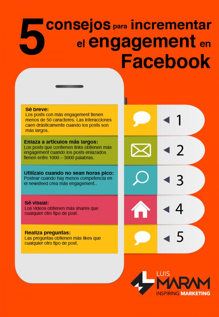 Cómo aumentar las interacciones en Facebook infografia